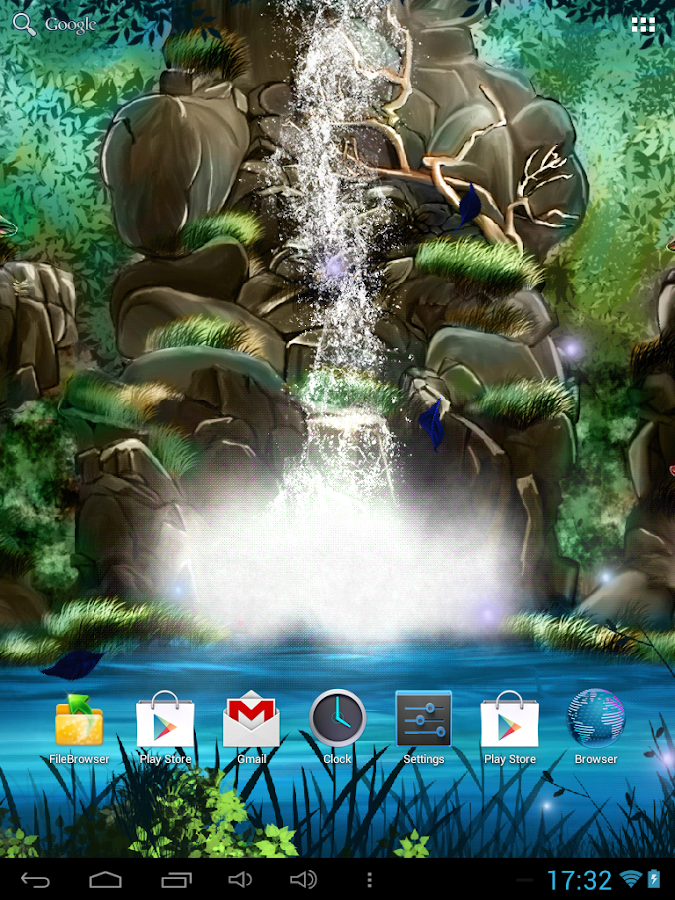 3D Waterfall Live Wallpaper FR - screenshot