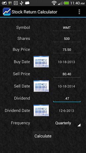 Stock Return Calculator