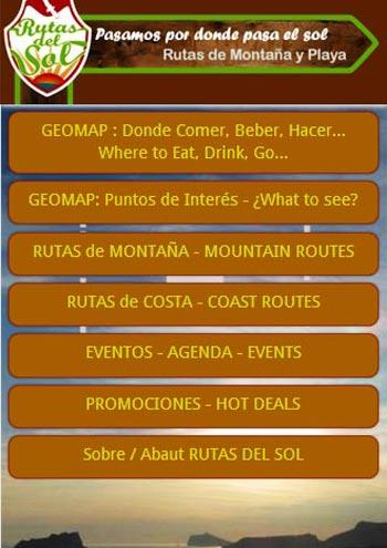 Rutas del Sol, Enjoy Routing: captura de pantalla