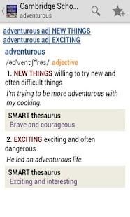 Cambridge School Dictionary TR - screenshot thumbnail