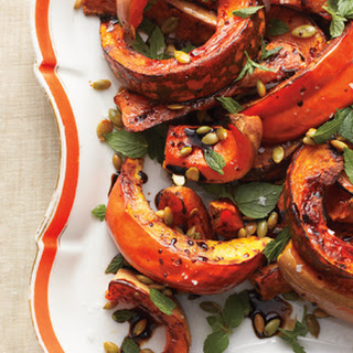 Roasted Squash with Mint and Toasted Pumpkin Seeds