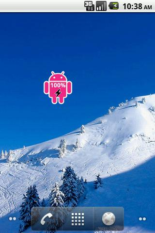 Pink Android Battery - screenshot