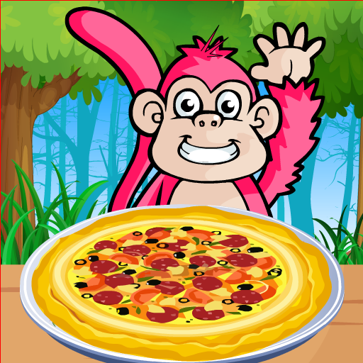 Monkey Pizza Cooking