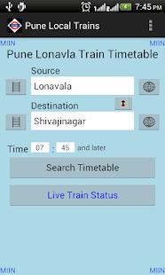 Pune Local Train Timetable - screenshot thumbnail