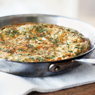 Frittata with Leeks and Herbs.