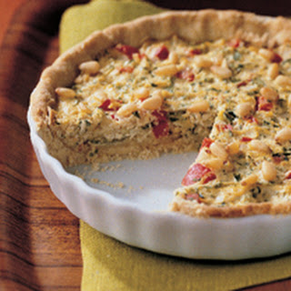 Red Pepper and Zucchini Quiche