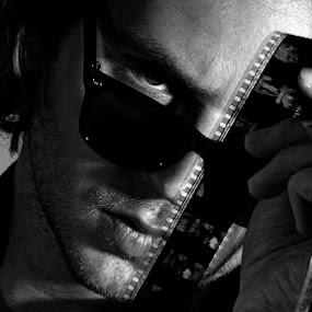 Dave by Attila Kropf - Black & White Portraits & People ( filmstrip, men, director, portrait,  )