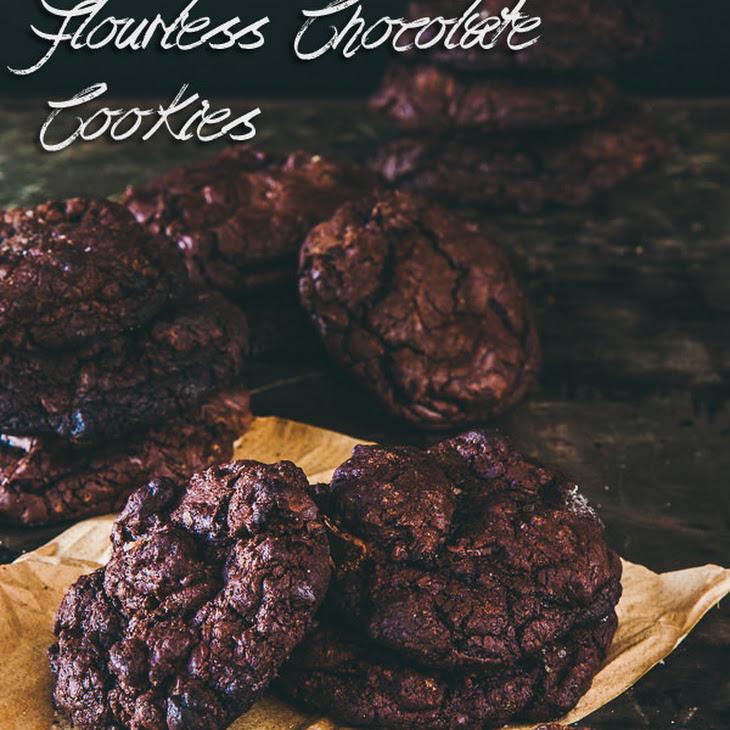 Flourless Smoked Sea Salt and Dark Chocolate Chip Cookies Recipe
