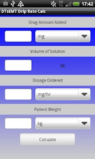 IV Drip Rate Calculator - screenshot thumbnail