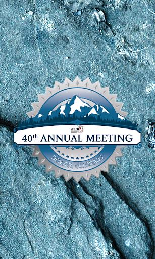 ASHI 40th Annual Meeting