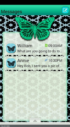 LacyButterfly GO SMS THEME