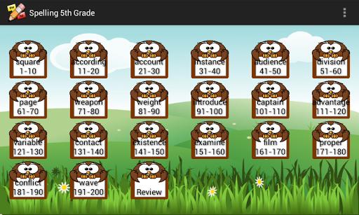 Spelling 5th Grade