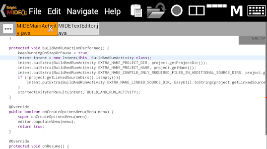 Bright M IDE: Java/Android IDE v2.1.0.001