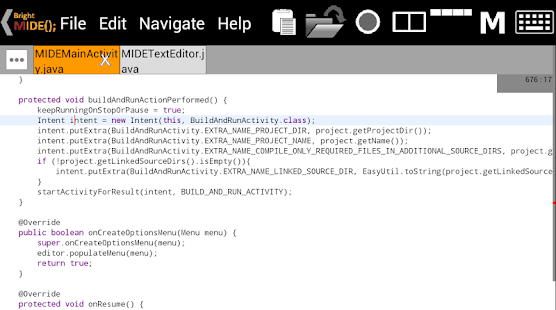 Bright M IDE: Java/Android IDE - screenshot thumbnail