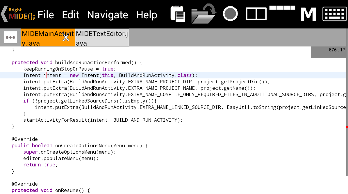 Bright M IDE: Java/Android IDE- screenshot