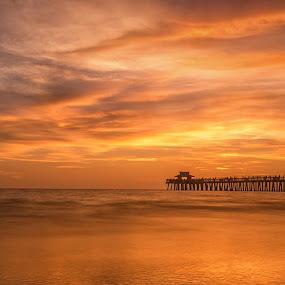 Naple's Pier by Eduardo Llerandi - Landscapes Beaches (  )