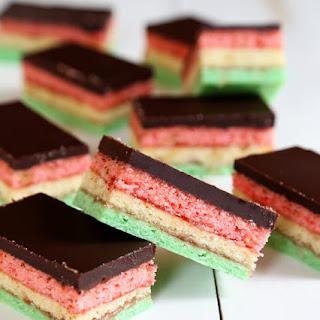 Gluten Free Rainbow Cookies.