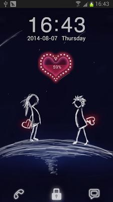 Forever Love Go Locker Theme - screenshot