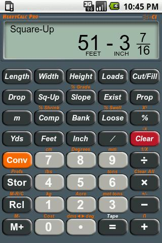 HeavyCalc Pro Calculator - screenshot