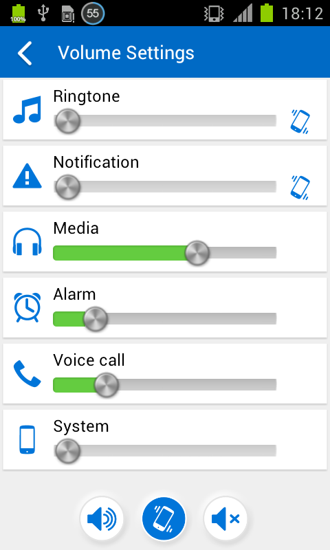 Volume Settings (Plugin)- screenshot