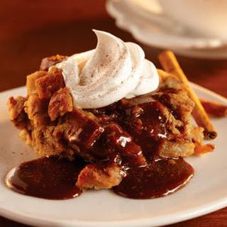 Cinnamon Bread Pudding with Caramel Coffee Sauce