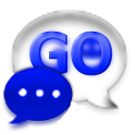 GO SMS Royal Blue Glass Theme icon
