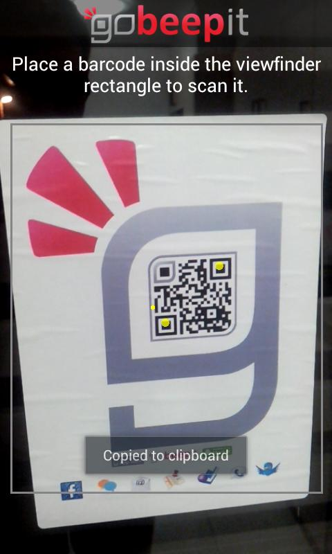 QR Code Reader - goBeepit - screenshot