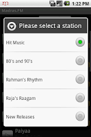 Screenshot of Madras.FM