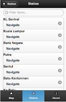 Screenshot of Malaysia Map for LRT & Train