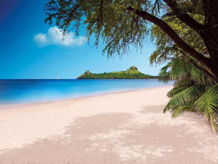Pigeon Island off the coast of St. Lucia in the eastern Carbibbean.
