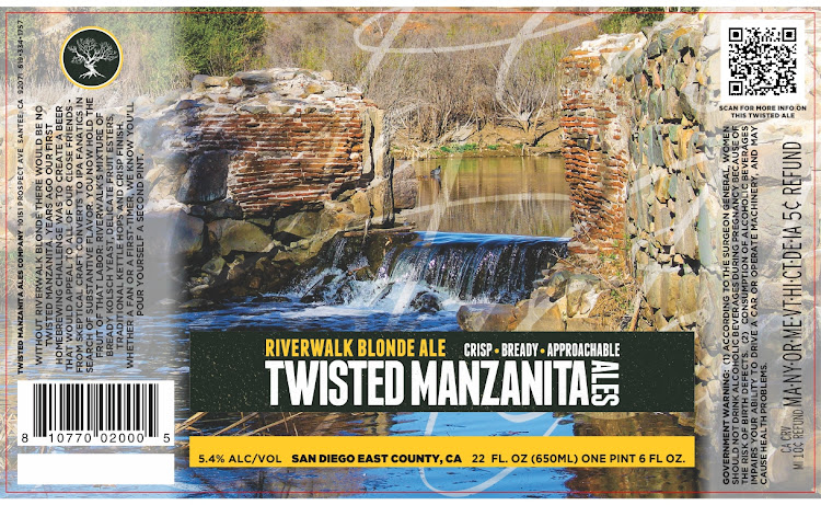 Logo of Twisted Manzanita Riverwalk Blonde Ale