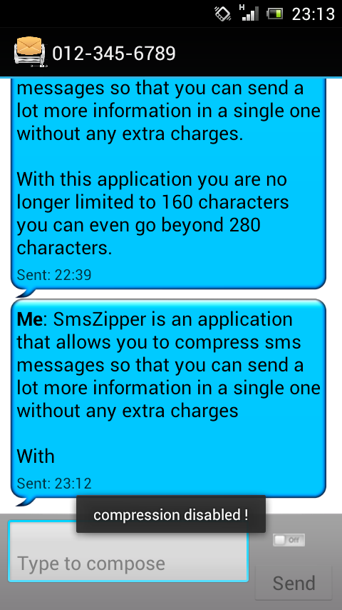 SmsZipper Send more Pay less - screenshot