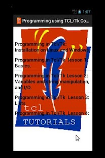 Tutorials in Tcl/Tk (Free)- screenshot thumbnail
