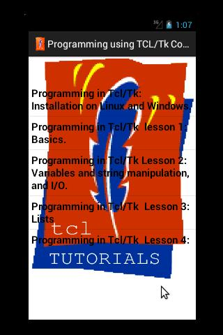 Tutorials in Tcl/Tk (Free)- screenshot