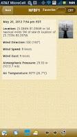 Screenshot of NOAA Buoy and Tide Data