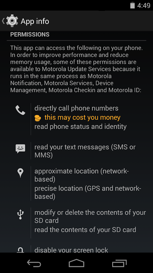 Motorola Update Services- screenshot