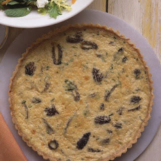 Quiche with Morels and Scallions