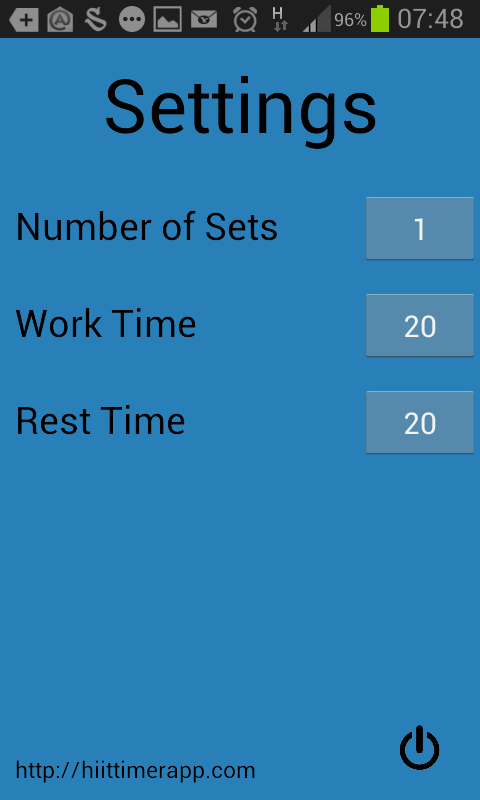 HiiT Timer- screenshot