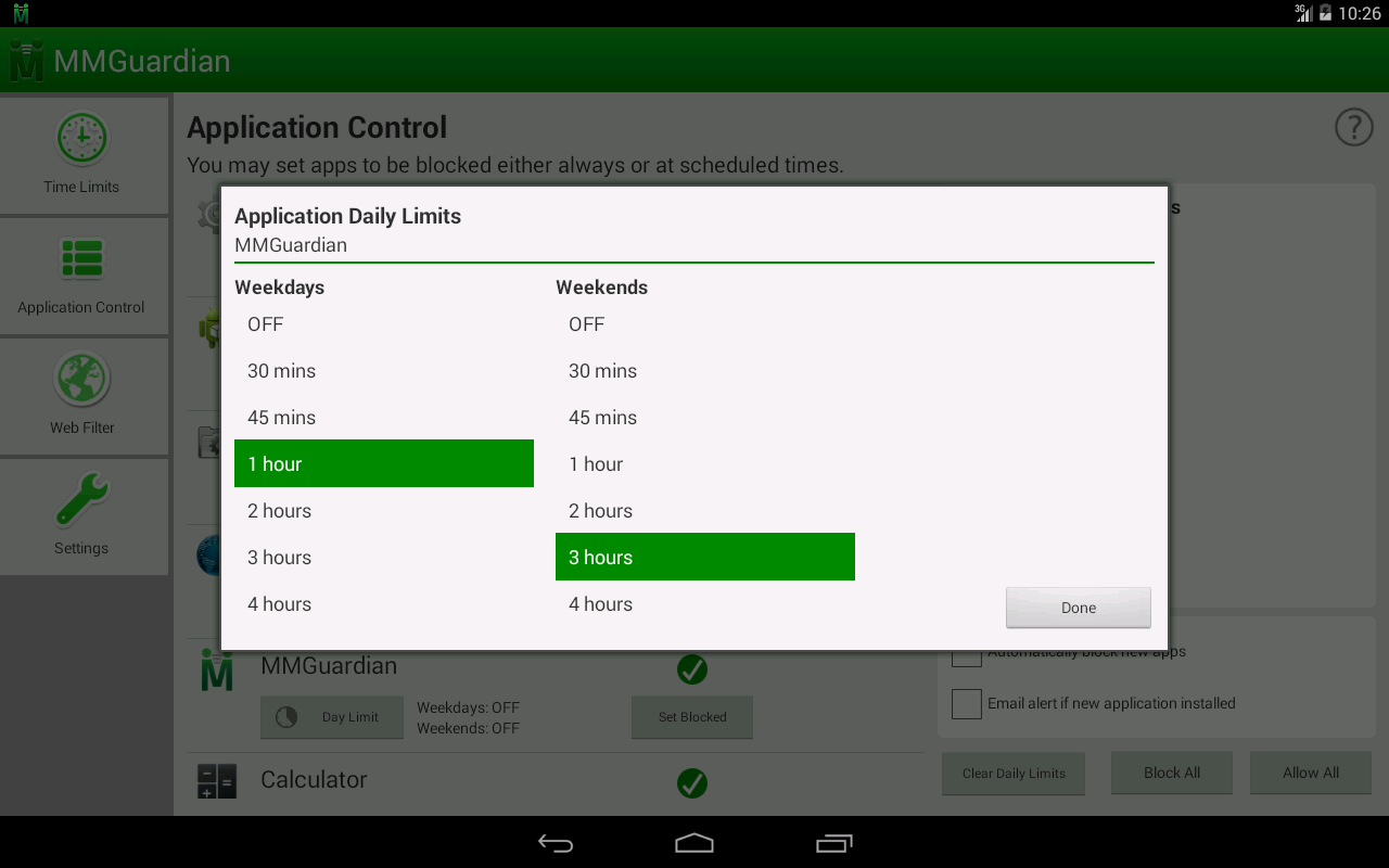 MMGuardian Tablet Security- screenshot