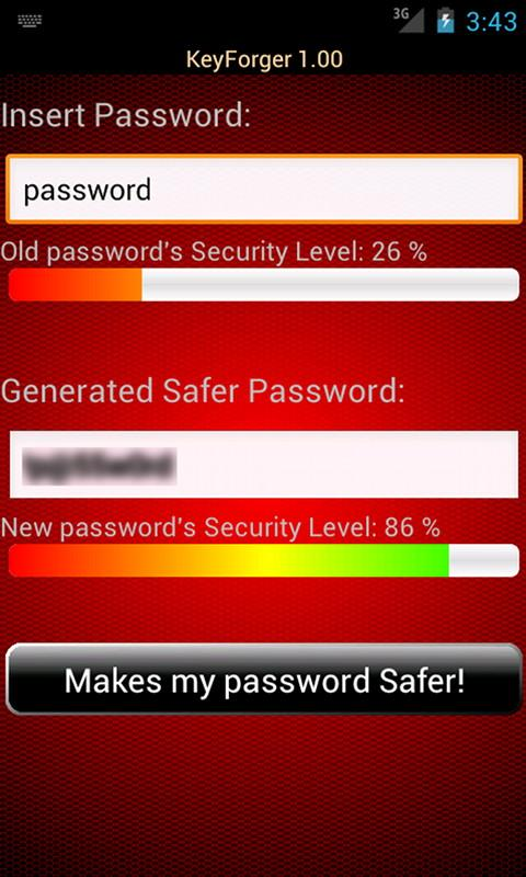 KeyForger Password Generator - screenshot