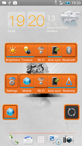 【免費個人化App】Bright Orange-Sense 4+ HD Skin-APP點子