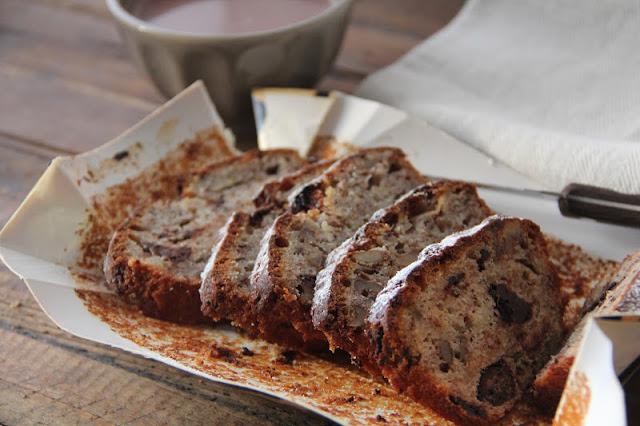 Nuts and Chocolate Banana Bread Recipe