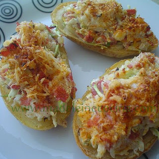 Twice Baked Irish Style Potatoes.