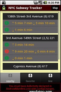 NYC Subway Time- screenshot thumbnail