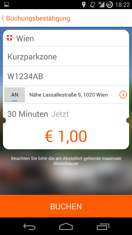HANDY Parken – Screenshot