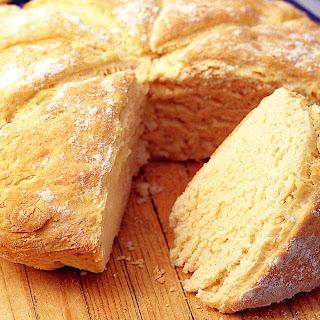 Australian Damper Bread Baked Over Campfire Coals.