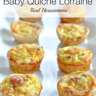 Baby Quiche Lorraine.