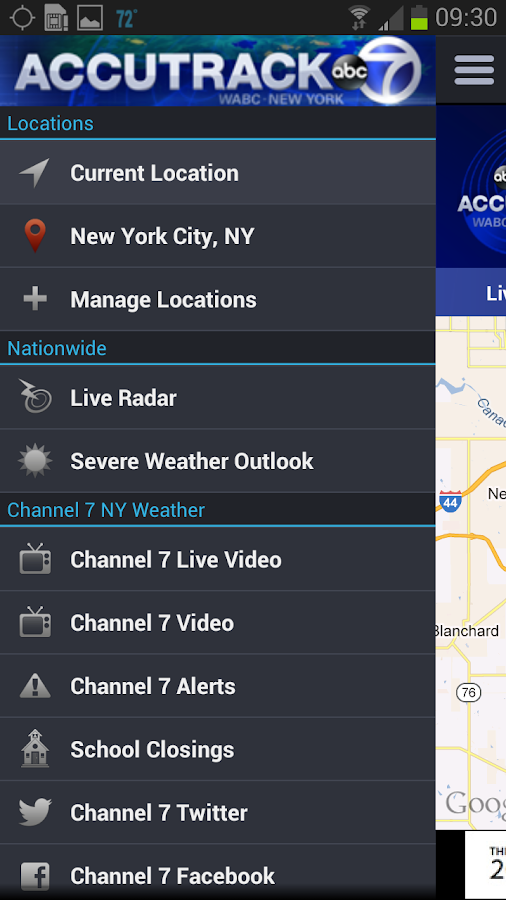 AccuTrack WABC NY AccuWeather - screenshot