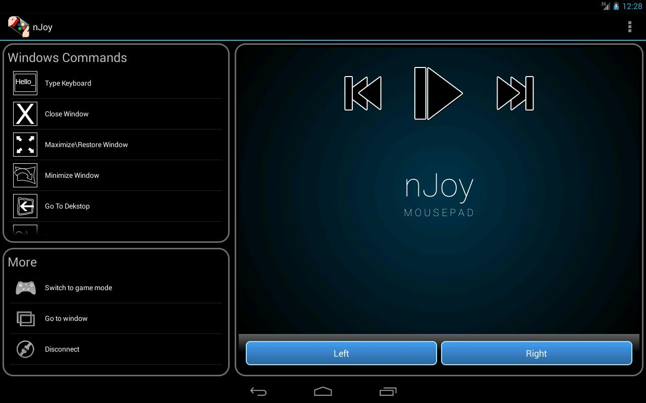 nJoy - Joystick up your device- screenshot