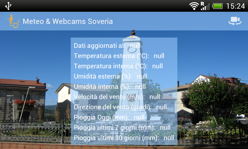 Meteo & Webcams Soveria - screenshot
